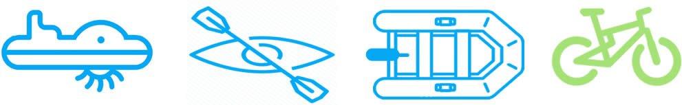 verhuur van waterfiets - kano- kayak - vtt